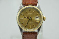 Rolex - Oyster Perpetual Date -  Gold/Steel - Rare Dial - Ref. 1500 - Men - 1970-1979