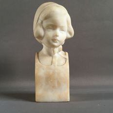 Mataresse - lovely alabaster girl's bust