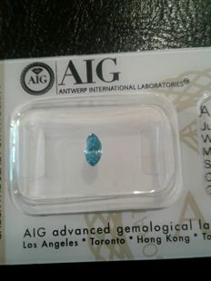 0.26 ct - Fancy Vivid Blue - Enhanced colour