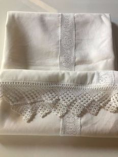 Fine linen and lace tablecloth made by expert craftswomen