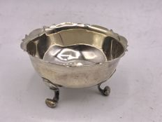 Antique Dutch silver almond bowl 1st half 20th century
