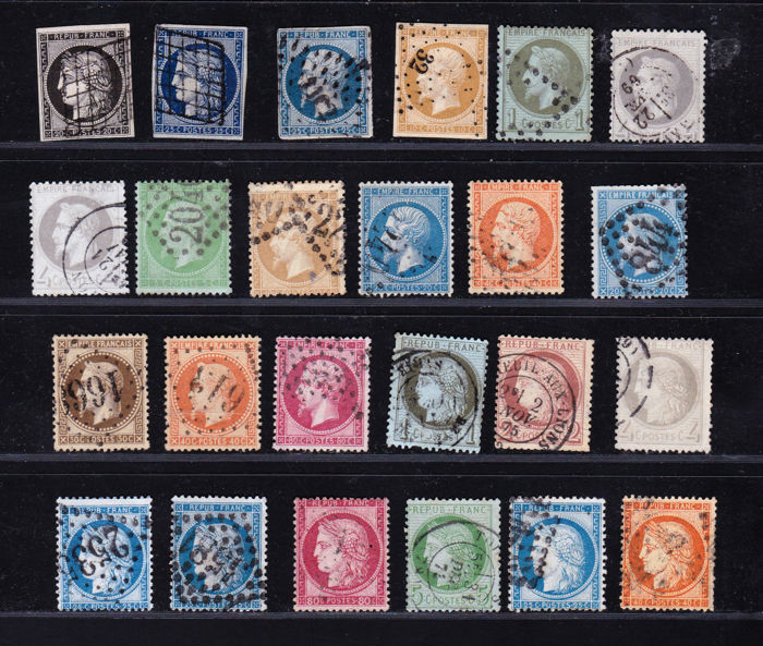 France 1849/1870 - Selection of Stamps - Yvert between 3 and 60A