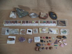 Lot of various minerals from various countries - 2.5 kg (67)