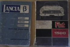 Lot of Alfa Romeo, Fiat and Lancia catalogues