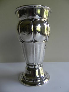 Gustaf Möllenborg - Art Deco silver vase with gold-plated interior