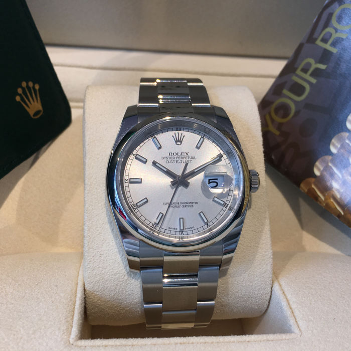 Rolex datejust 36 ref 116200 oyster perpetual stainless steel 2007 catawiki for Rolex date just 36