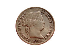 Spain - Isabelle II (1833 - 1868), 40 cents from 1864 - Madrid