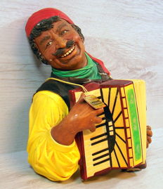 3D Bossons Kurd hand-painted gypsy with accordion