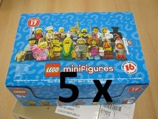 5x Series 17 Collectible Minifigs - 5 (five) FULL boxes!
