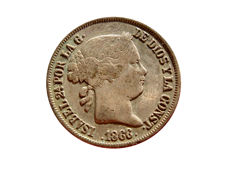 Spain - Isabelle II (1833 - 1868), 40 cents from 1866 - Madrid