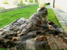 XXL cuddly soft fur blanket raccoon
