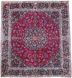 Beautiful  and Large Persian Meshed Rug c. 325x285 cm 1st Half of the 20th Century