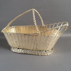 Braided wine basket - Christofle coll. Gallia - 1935-1983