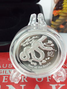 Australia - Dollar 2013 'Year of the snake' High Relief - 1 oz silver