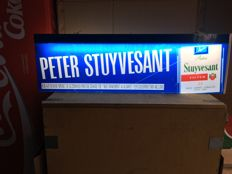 Beautiful old illuminated advertising of Peter Stuyvesant cigarettes