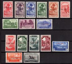 Cape Juby 1934/1936 - Fitted stamps from Morocco - Edifil 51/66