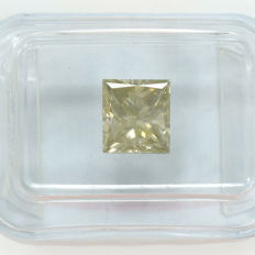 Diamond – 1.44 ct, Si1 Natural Fancy Greyish Yellow