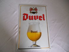 Enamel sign - Duvel - beer 2001