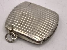Antique handmade silver tinder-box from the first half of the 20th century