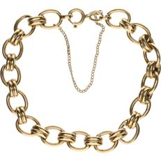 14 kt - Yellow gold anchor chain bracelet - Length: 18 cm.