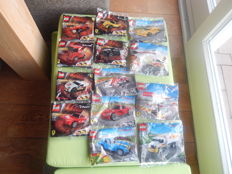 13 Poly bags Shell Racers - 30190 to 30195 and 40190 to 40196