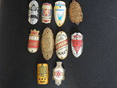Collection of 10 Nice Bicycle Head Badges, with some rare ones including - Hertog and Davy and others