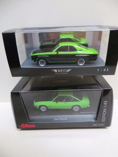 Neo / Schuco - Scale 1/43 - Opel Manta and Opel TE2800