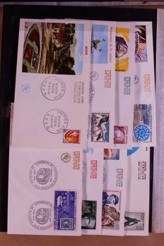 France, around 1963/1970 - Batch of 1000 First Day Covers in a box