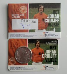 The Netherlands – 5 euro 2017 'Johan Cruijff' in Coin cards (3 different ones:
