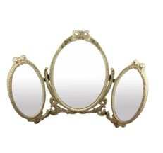 Triptych mirror for a dressing table, England, second half of 20th century
