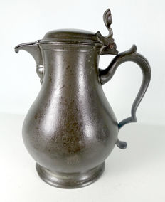 Pewter jug Rotterdam Joh van Rees 18th century (deceased 1792)