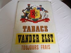 Enamel sign - Tabacs Vanderelst - 1952