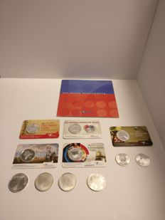 "The Netherlands - 5 and 10 Euro coins 2003/2015 ""Commemorative coins"" (11 pieces) and Euro introduction set (the Netherlands)"