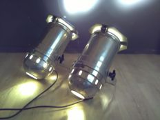 Set of professional theatre spots - aluminium theatre lamps