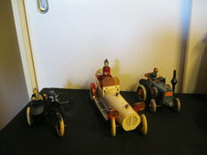 Tucher & Walther, Germany - Several dimension - Lot with 3 tin vehicles with/without mechanism, 1980s/90s