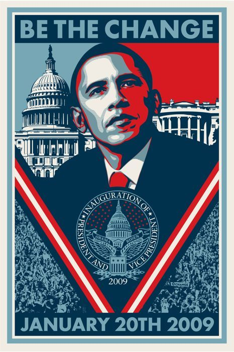 Shepard Fairey (Obey) - Obama Be the Change - 2009