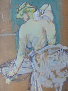 Henri de Toulouse Lautrec (after) - La Toilette