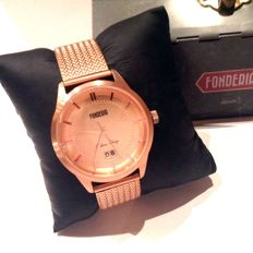 LA FONDERIA made in Italy STREAMLINER 18 kt gold-plated, new