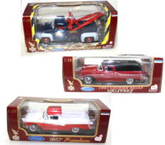 Road Legends - scale 1/18 - F-100 Ford Wrecker 1953 & Ranchero 1957 & Courier Limousine 1957