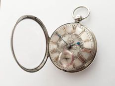 English gold/silver verge fusee pocket watch - Heren - Vóór 1850