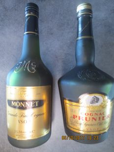 Monnet VSOP & Prunier VSOP - bottled 1980s