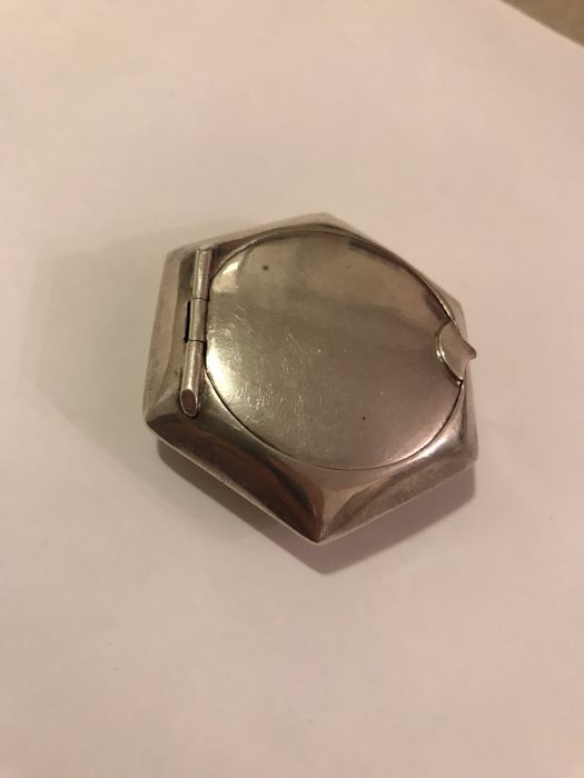 Silver pillbox