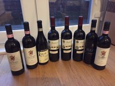 2007 Antoniolo Osso San Grato, Le Castelle and San Francesco (1 bottle each), 2013 Rizzi Barbaresco, 2011 Angelo Negro Cascinotta Barbaresco, 2008 Marchesi di Barolo Barbaresco - 3 bottles