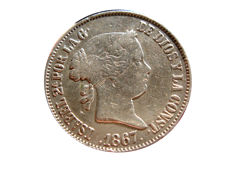 Spain - Isabel II (1833–1868) 1 escudo from 1867 - Madrid