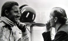 Graham Hill, Colin Chapman - Lotus Team - Grand Prix Germany 1968