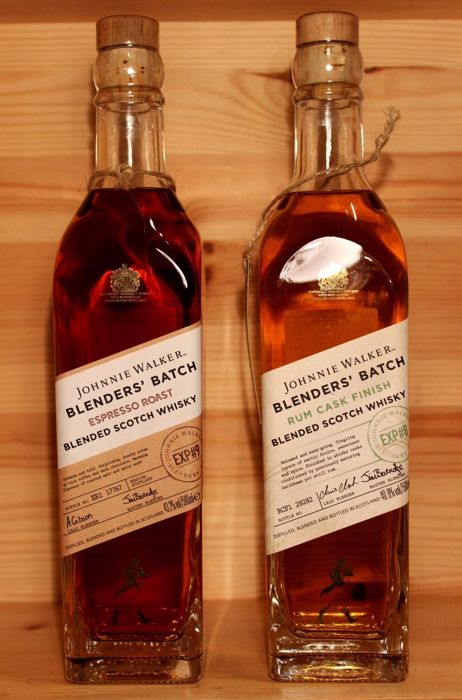 2 bottles - Johnnie Walker Espresso Roast & Johnnie Walker Rum Cask Finish - 2x500ml