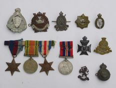 Lot with 13 Metal Commemorative Medals (Decorations) / 1940s - various countries
