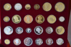 Portugal - History of the Portuguese currency , gold and silver bath