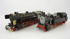 Fleischmann H0 - 4094/4065 - Two tender locomotives BR 65 and BR 94 of the DB