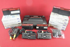 Sega Master System II console with 9 games eg Sonic, Back to the Future, Global Defence and more